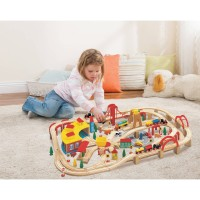 Wooden Train Play Set, 145-Piece   551737367