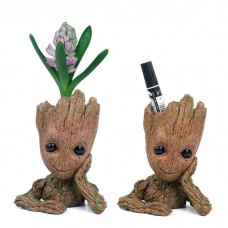 Scheam Fashion Guardians of The Galaxy Flowerpot Baby Groot Action Figures Cute Model Toy Pen Pot 1Pcs