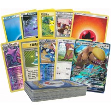 50 Pokemon Card Pack Lot - Featuring a GX and Pre Evolved Form of The GX! Rares, Foils and Basic Energy Included!