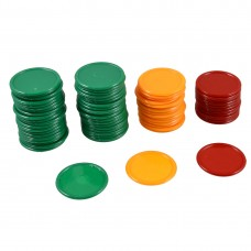 Unique Bargains Round Shaped Mini Poker Chips Red Orange Green 69 Pcs