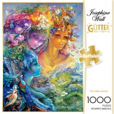 Buffalo Games 1,000-Piece Puzzle, Josephine Wall's The Three Graces Glitter Edition   555629021