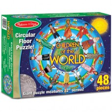 Melissa & Doug Children of the World Jumbo Jigsaw Floor Puzzle (48 pcs, 32 inches diameter)   555351039