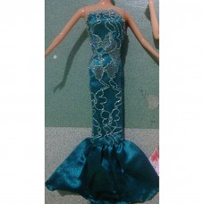 Fashion Elegant Evening Party Strapless Mermaid Dresses 29-30CM for Barbies Dolls