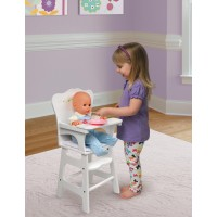 "Badger Basket Doll High Chair with Padded Seat - White Rose - Fits American Girl, My Life As & Most 18"" Dolls   551539174"