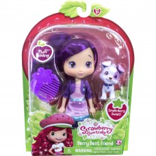 "Strawberry Shortcake 6"" Doll and Pet, Plum with Pitterpatch   555246469"