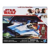 Star Wars Force Link 2.0 Resistance A-wing Fighter and Resistance Pilot Tallie Figure   567758730