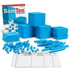 Learning Resources Plastic Base Ten Class Set, 15 1/2 x 11.4 x 4 1/2, Blue LER0932