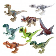 8pcs ABS Dinosaur Building Blocks Kids playing toy Dinosaur Miniature Action Figures